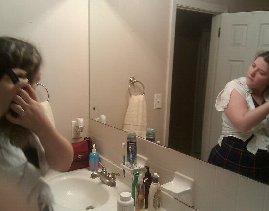 Erin Getting Ready