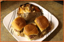 Cranberry BBQ Turkey Sliders