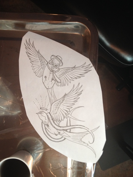 Tattoo Stencil by Robert Jarrett - 2 Ton Tattoo Gallery