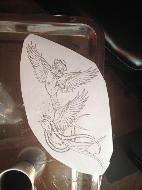 Tattoo Stencil by Robert Jarrett - 2 Ton Tattoo Gallery