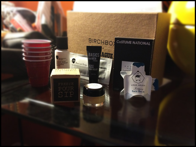 Contents of October's Birchbox Man