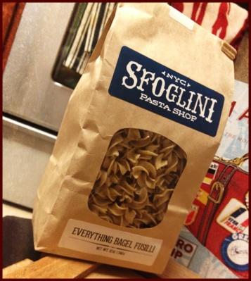 Everything Bagel Fusilli from Sfoglini Pasta Shop, Brooklyn, NY