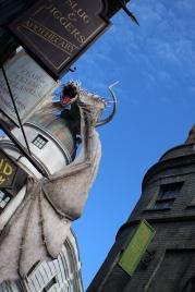 Dragon atop Gringotts