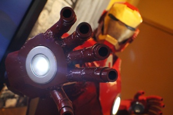 An Ironman sculpture sculpted out of...Iron
