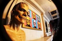 Frankenstein Monster Pop Art at the Monster Cafe