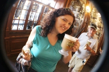 A cutie with a Butterbeer
