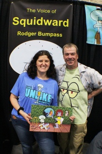 Erin met Rodger Bumpass, voice of Squidward Tentacles!