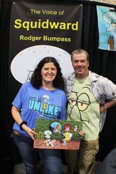 Erin met Rodger Bumpass, voice of Squidward Tentacles!