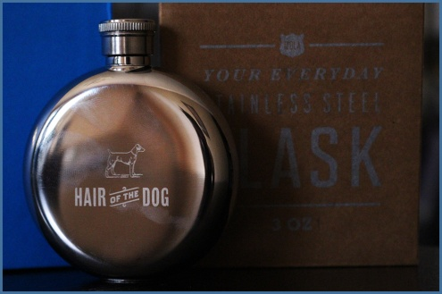 "3oz Flask, ""Hair of the Dog"" by Izola"