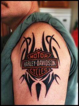 Chuck's Harley Davidson tattoo, final