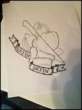 Rob's original tattoo design