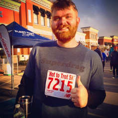Post-Race at the Knoxville Hot To Trot 5k on Thanksgiving Day, 2014