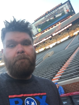 Proof I was in Neland Stadium after the Covenant Health Knoxville Marathon 5k, March 29, 2015