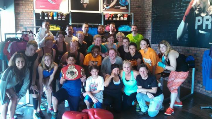 Me and the other brave souls that took on the T-75 class at Title Boxing Club Knoxville on March 29, 2015
