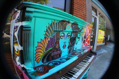 Lovely piano art in downtown Kingsport, Tennessee