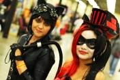 Catwoman and Harley Quinn cosplay
