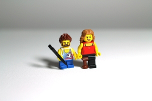 E and I made Lego minis of each other...