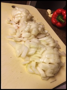 Peel and dice your onion