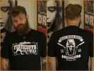 Fisticuffs / Grave Before Shave t-shirt front/back
