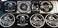 Freebie Fisticuffs / Grave Before Shave stickers