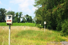 Row number lights still standing at the Moonlite Drive-In Theatre in Abingdon, VA