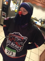 Erin is ready to represent her Ice Bears and her sweet new beard