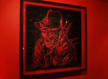 Freddy portrait made from Twizzlers